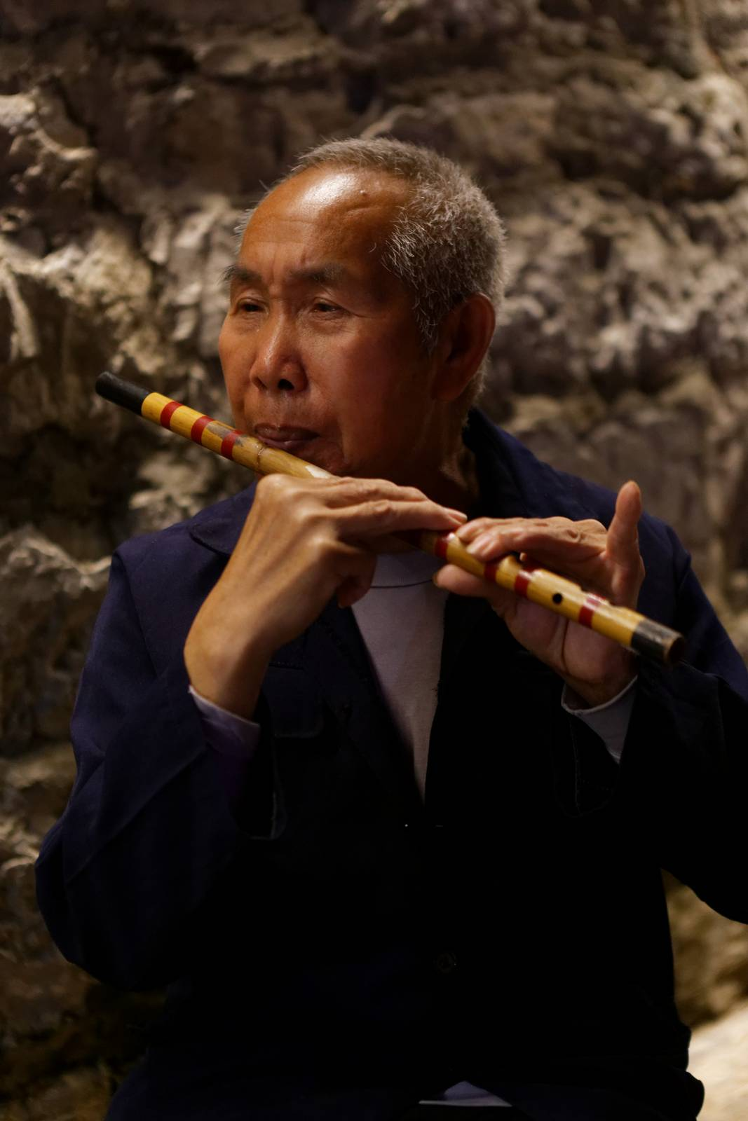China portraits, the flute player